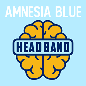 Amnesia Blue Head Band