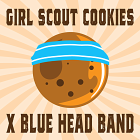 Girl Scout Cookies x Blue Head Band