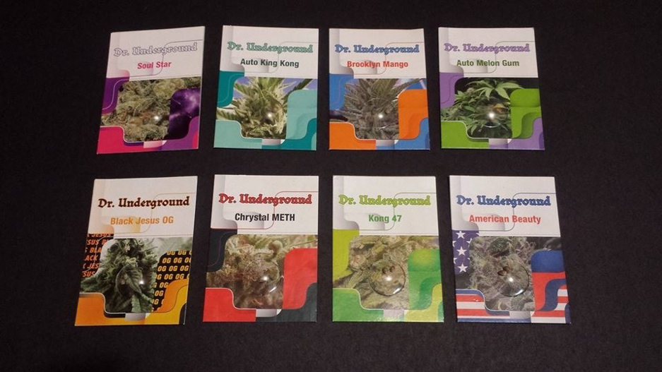 Dr Underground seeds packaging