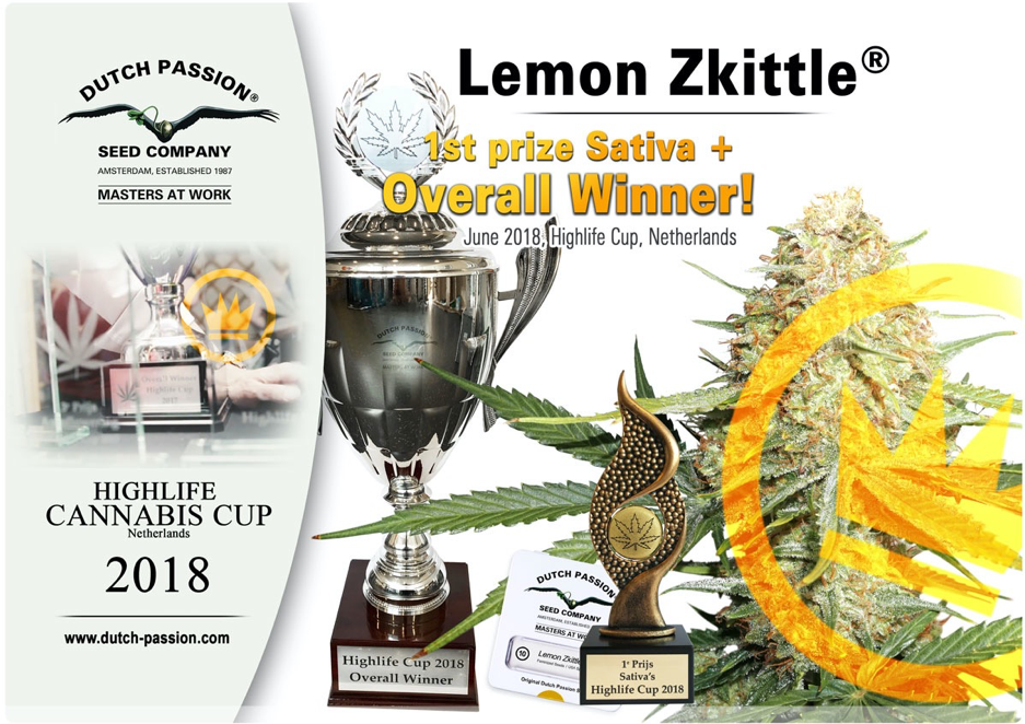 Dutch Passion - Lemon Zkittle Sativa 1st prize winner