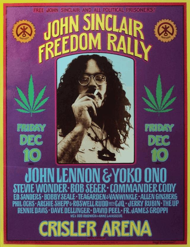 John Sinclair Seeds - Free John Sinclair Rally poster